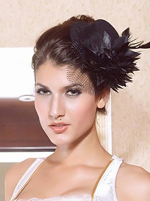 cheap Fascinators-Women's Satin Headpiece-Wedding / Special Occasion Fascinators