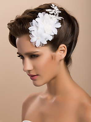 cheap Wedding Wraps-Crystal / Lace / Fabric Tiaras / Fascinators with 1 Wedding / Special Occasion / Party / Evening Headpiece