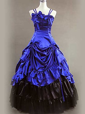 cheap Historical & Vintage Costumes-Victorian Medieval 18th Century Dress Party Costume Masquerade Women's Satin Costume Vintage Cosplay Sleeveless Long Length Ball Gown / Skirt / Petticoat