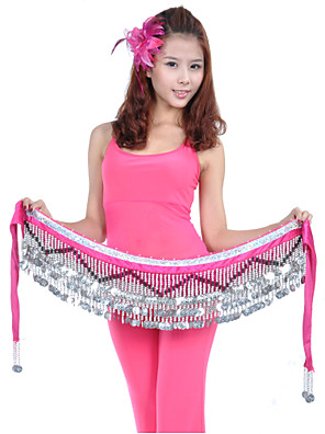 cheap Evening Dresses-Belly Dance Hip Scarf Coin Beading Women's Training Polyester
