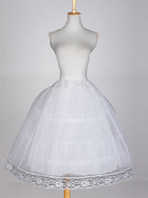 cheap Wedding Slips-Wedding / Special Occasion / Party / Evening Slips Taffeta / Tulle / Cotton Glossy / Ball Gown Slip with White Bow / Lace-trimmed bottom