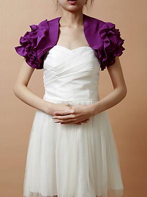 cheap Wedding Wraps-Short Sleeve Coats / Jackets Chiffon Wedding / Party Evening Wedding  Wraps With