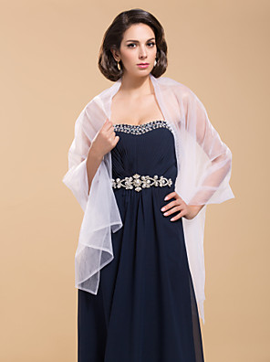 cheap Wedding Wraps-Sleeveless Shawls Tulle Wedding / Party Evening Wedding  Wraps / Shawls With