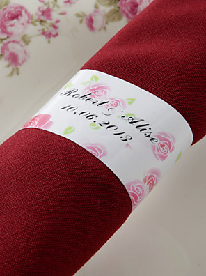 cheap Flower Girl Dresses-Wedding Napkins - 50pcs Napkin Rings Wedding Anniversary Birthday Engagement Party Bridal Shower Quinceañera & Sweet Sixteen Floral Theme
