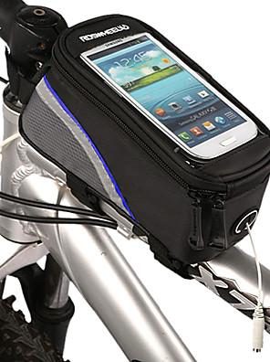 cheap Smart Watches-ROSWHEEL Cell Phone Bag Bike Frame Bag Top Tube Waterproof Reflective Strips Bike Bag Polyester PVC(PolyVinyl Chloride) Bicycle Bag Cycle Bag iPhone 5C / iPhone 4/4S / Iphone 5/5S Cycling / Bike