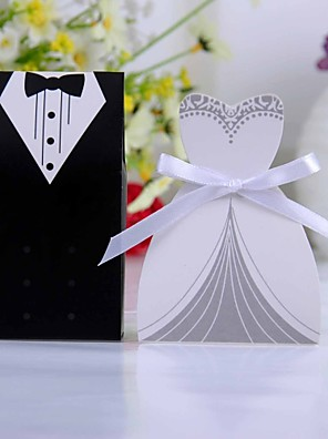cheap Favor Holders-Creative Card Paper Favor Holder with Ribbons Favor Boxes - 12