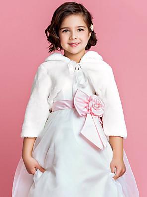 cheap Wedding Wraps-Long Sleeve Shrugs Faux Fur Wedding / Party Evening Fur Wraps / Kids' Wraps With Smooth / Fur