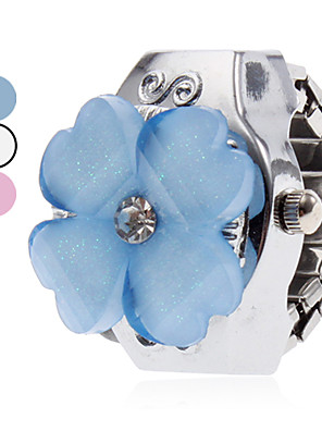 cheap Quartz Watches-Women's Ring Watch Quartz Ladies Casual Watch Silver White Blue Pink One Year Battery Life / Japanese / Japanese / SSUO SR626SW