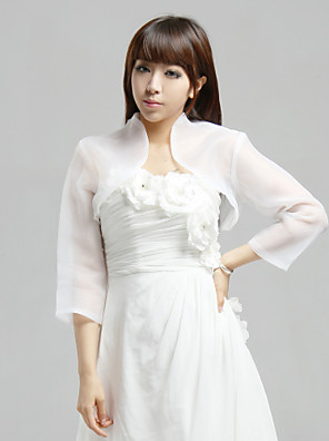 cheap Buy More, Save More-Coats / Jackets Organza Wedding / Party Evening / Casual Wedding  Wraps With
