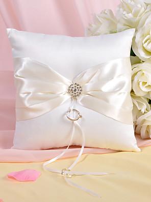 cheap Wedding Slips-Rhinestone / Sash Satin Ring Pillow Garden Theme Spring / Summer / Fall