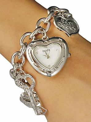 cheap Quartz Watches-Women's Quartz Silver / Gold Heart shape - Gold Silver One Year Battery Life / SSUO SR626SW