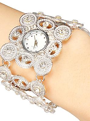 cheap Bracelet Watches-Women's Luxury Watches Bracelet Watch Quartz Ladies Hollow Engraving Analog Black Gold Silver / Japanese / Japanese