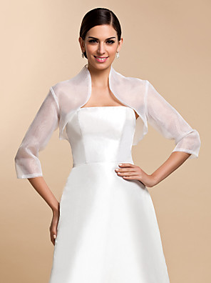 cheap Prom Dresses-Coats / Jackets Organza Wedding / Party Evening / Casual Wedding  Wraps With