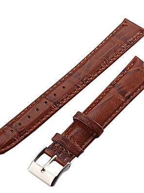 cheap Quartz Watches-Watch Bands Brown Leather Watch Accessories 21.5*1.8*0.3 High Quality