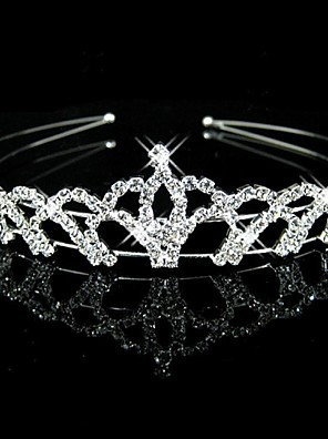 cheap Mother of the Bride Dresses-Crystal / Rhinestone / Fabric Tiaras / Headbands with 1 Wedding / Party / Evening Headpiece
