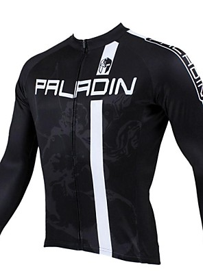 cheap Maternity Dresses-ILPALADINO Men's Long Sleeve Cycling Jersey Winter Fleece Black Stripes Bike Jersey Top Mountain Bike MTB Road Bike Cycling Thermal / Warm Breathable Quick Dry Sports Clothing Apparel