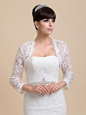 cheap Wedding Wraps-Coats / Jackets Lace Wedding / Party Evening Wedding  Wraps With