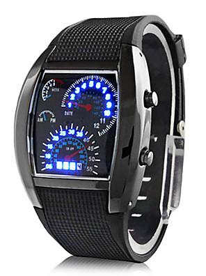 cheap Sport Watches-Men's Wrist Watch Digital Watch Digital Calendar / date / day Rubber Black Digital - Dark Blue+Silver Sky Blue+Silver Red+Silver Two Years Battery Life / Panasonic CR2032