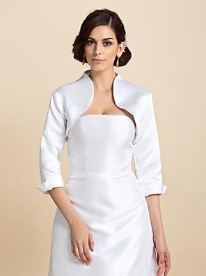 cheap Wedding Wraps-Coats / Jackets Satin Wedding / Party Evening Wedding  Wraps With