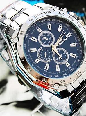 cheap Steel Band Watches-Men's Wrist Watch Aviation Watch Quartz Charm Fake Three Eyes Six Needles Analog White Black Blue / One Year / Jinli 377
