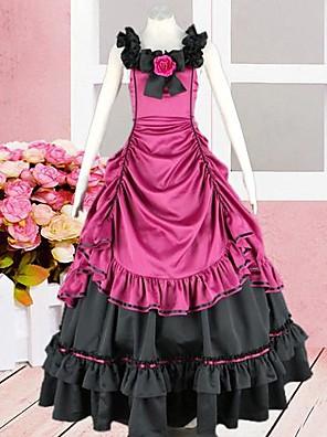 cheap Lolita Dresses-Dress Gothic Lolita Dress Lolita Accessories Patchwork Dress Silk Halloween Costumes / Long Length