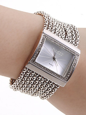 cheap Quartz Watches-Women's Ladies Luxury Watches Bracelet Watch Square Watch Quartz Luxury Casual Watch Copper Silver Analog - Golden Silver One Year Battery Life / Stainless Steel / Japanese / Japanese / SSUO SR626SW