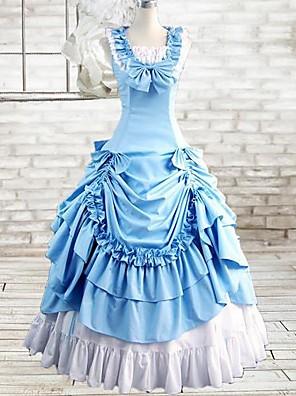 cheap Lolita Dresses-Gothic Lolita Dress Dress Cosplay Ink Blue Sleeveless Long Length Costumes