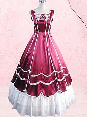 cheap Lolita Dresses-Dress Gothic Lolita Dress Lolita Accessories Dress Cravat Cotton Halloween Costumes / Long Length