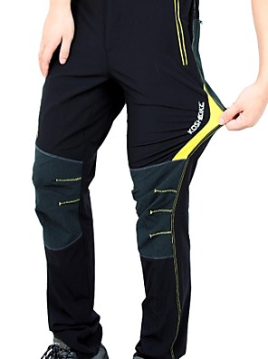 cheap Hiking Trousers & Shorts-KORAMAN Men's Cycling Pants Bike Pants / Trousers / Bottoms Breathable, Quick Dry Solid Colored Spandex Black / Red / Black / Green / Black / Yellow Road Cycling Relaxed Fit Bike Wear / Stretchy