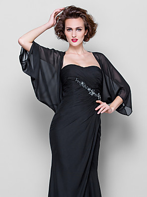 cheap Wedding Wraps-Coats / Jackets Chiffon Wedding / Party Evening / Casual Women's Wrap / Bolero With Draping