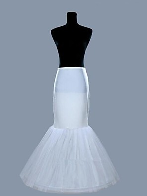 cheap Wedding Slips-Wedding Slips Organza / Lycra Floor-length Mermaid and Trumpet Gown Slip with