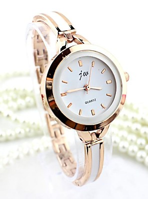 cheap Quartz Watches-Women's Bracelet Watch Gold Watch Quartz Ladies Imitation Diamond Silver / Gold Analog - Golden Silver