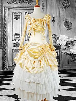 cheap Lolita Dresses-Dress Classic Lolita Dress Lolita Accessories Dress Satin Cotton Halloween Costumes / Long Length