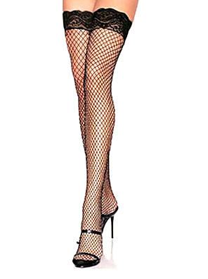 cheap Socks & Hosiery-Women's Lace Thin Sexy Stockings - Solid Colored ExtraSheer Thin Thigh Highs Fishnet White Black Red