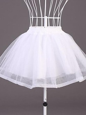 cheap Wedding Slips-Wedding / Special Occasion Slips Organza / Polyester Short-Length A-Line Slip with Lace
