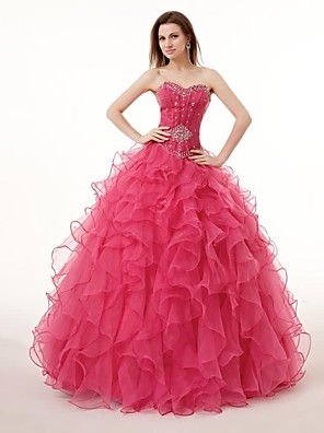 cheap Special Occasion Dresses-Ball Gown Wedding Dresses Sweetheart Neckline Floor Length Georgette with 2020