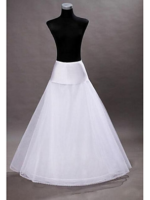 cheap Wedding Slips-Wedding Slips Floor-length A-Line Slip With Wedding Accessories