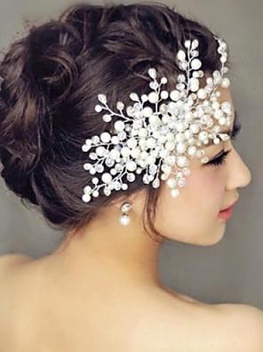 cheap Wedding Veils-Pearl Hair Combs Headpiece Wedding Party Elegant Feminine Style