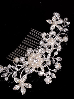 cheap Watches-Alloy Hair Combs / Headwear with Floral 1pc Wedding / Special Occasion / Casual Headpiece