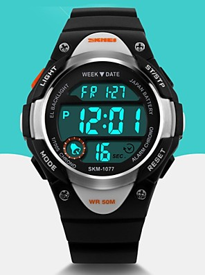 cheap Sport Watches-SKMEI Men's Sport Watch Wrist Watch Digital Watch Quartz Digital Fashion Alarm Rubber Black / Blue / Pink Digital - Black Blue Pink Two Years Battery Life / Calendar / date / day / Maxell626+2025