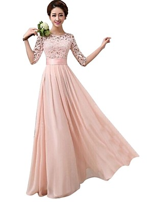 cheap Prom Dresses-Maxi long Dress Dusty Rose All Seasons Party White Purple Olive Fuchsia Pink Light Blue
