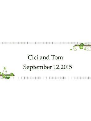 cheap Wedding Wraps-Wedding Décor Personalized   Banner --- Green Clover