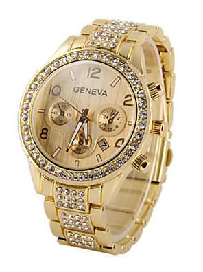cheap Quartz Watches-Men's Toggle Clasp Wrist Watch Golden Rose Gold Silver