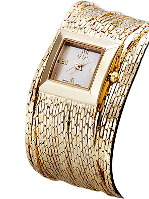 cheap Quartz Watches-ASJ Women's Luxury Watches Wrist Watch Gold Watch Quartz Ladies Water Resistant / Waterproof Silver / Gold / Rose Gold Analog - Rose Gold Gold Silver One Year Battery Life / Stainless Steel