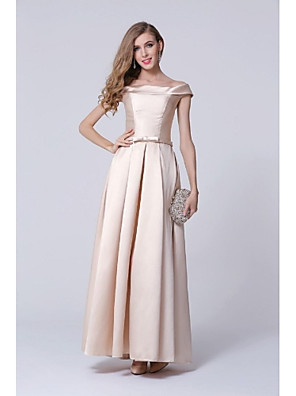 cheap Special Occasion Dresses-A-Line Formal Evening Dress Off Shoulder Floor Length Polyester with 2020