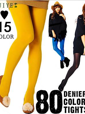 cheap Socks & Hosiery-Women's Warm Pantyhose - Solid Colored Black Wine Dark Pink One-Size