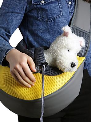 cheap Girls' Dresses-Cat Dog Carrier Bag & Travel Backpack Shoulder Messenger Bag Sling Shoulder Bag Portable Breathable Solid Colored Fabric Small Dog Purple Yellow Pink