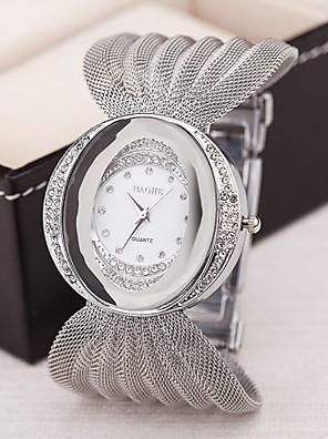 cheap Square & RectangularWatches-Women's Luxury Watches Bracelet Watch Diamond Watch Quartz Ladies Imitation Diamond Silver / Brown / Gold Analog - Golden Silver