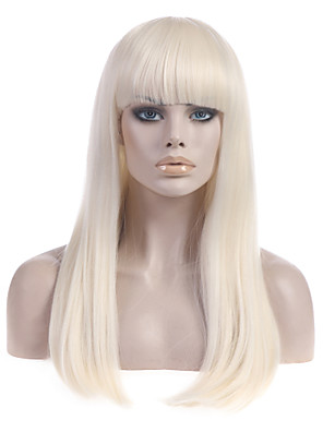 cheap Cocktail Dresses-Synthetic Wig Straight Straight With Bangs Wig Blonde Long Light Blonde Synthetic Hair Women's With Bangs Blonde StrongBeauty