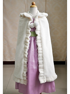 cheap Flower Girl Dresses-Sleeveless Capes Faux Fur Wedding / Party Evening / Casual Kids' Wraps With Smooth / Fur